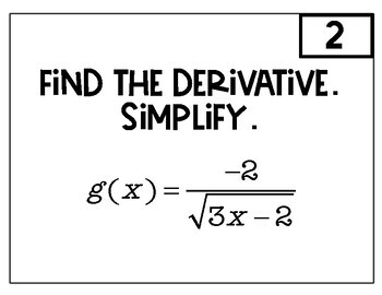Calculus Chain Rule Derivatives Speed Dating by Teaching