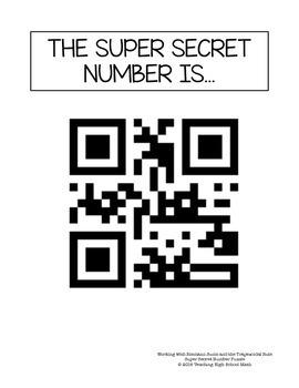 Calculus Super Secret Number Puzzle Riemann Sums and