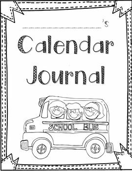 Calendar Journal for First Grade Math Skills by Rachel