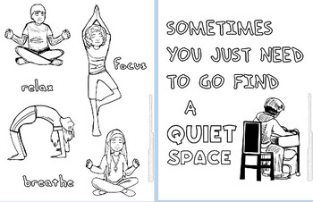 Calm Down Coloring Pages-Visuals for OLDER Students! by