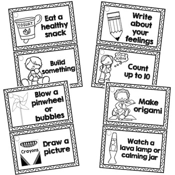 Calming Strategies/Coping Skills Printable Cards by