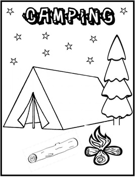 Camping Coloring Page {FREE... by Innovative Teacher