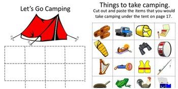 Camping Camping Math Camping Literacy Summer Special