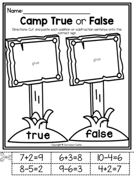 Camping Kindergarten Math & Literacy Printables by