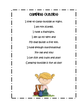 Camping Theme Literacy & Math Center Activities by