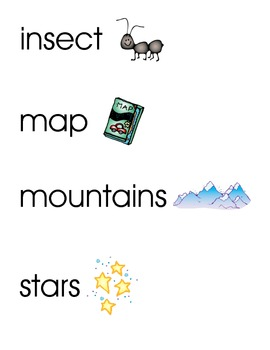 Camping Word Wall/Vocabular... by Loving Life in