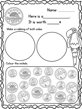 Canadian Money: Canadian Coins Printables by Angel's