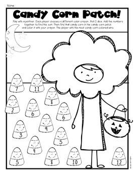 (Candy Corn} Halloween Print & Go! First Grade