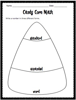 Candy Corn Math! Three Forms of a Number by A Piece of the