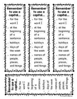 Capital Letters Posters and Bookmarks by Create-Abilities