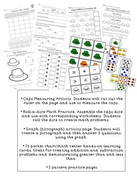 Caps for Sale Graphing & Patterns Math Activity Set by The
