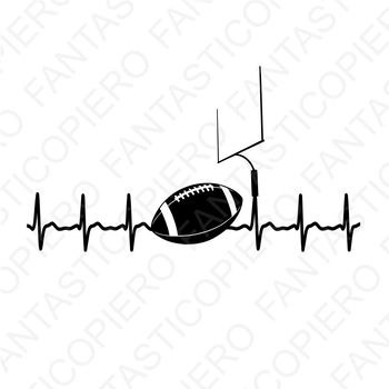 Cardio football SVG files for Silhouette Cameo and Cricut
