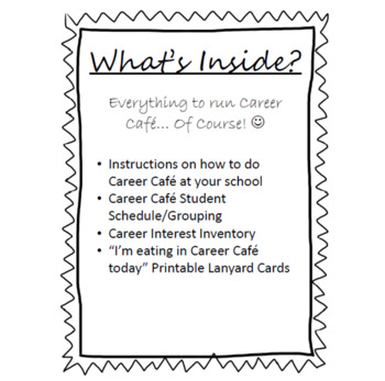 Career Cafe Packet with Career Interest Survey by Simply