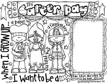 Career Day Coloring Page FREEBIE By Melonheadz By