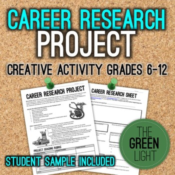 Career Research Project With Worksheets And Sample By The Green Light