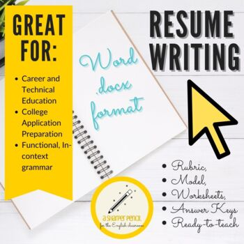 Career Resume Writing Handouts, Mini-Lessons, Rubrics by