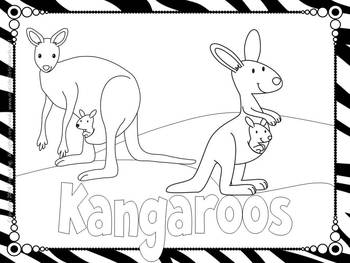 Carnival of the Animals Coloring Book or Coloring Sheets-3
