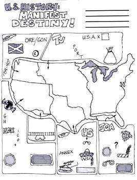 Cartoon Notes for Manifest Destiny by Cotham City Cartoon