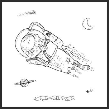 Cat Astronaut Clip Art, Astronaut Clipart, Space Clip Art