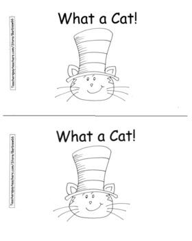 Cat Hat Theme Reproducible Book,