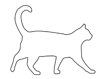 Cat Template for Art Project Cat Coloring Page Cat Outline