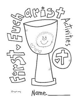 Catholic First Eucharist Activity Booklet by Ingrid's Art