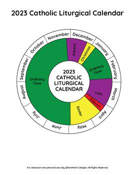 Free Printable Catholic Liturgical Calendar 2020 : printable, catholic, liturgical, calendar, Catholic, Liturgical, Calendar, Printables, Activities, HenMama, Designs