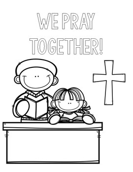 Catholic Schools Week Coloring Pages by Countless Smart