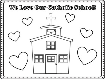 Catholic Schools Week Coloring Pages Worksheets Teaching Resources Tpt