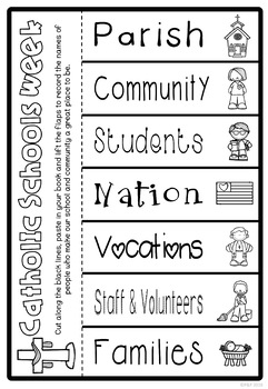 Catholic Schools Week Worksheets and Activities by Ponder