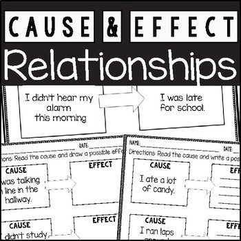 Cause and Effect Activities and Worksheets by Primary