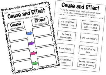 Cause And Effect Worksheets Fifth Grade. Cause. Best Free