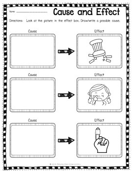 Cause and Effect Task Cards by Staying Cool in the Library
