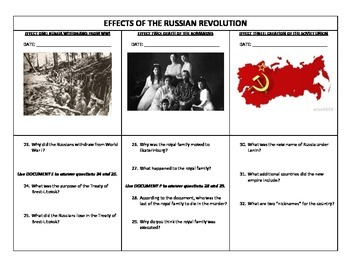 Collection Of Russian Revolution Worksheets Bluegreenish