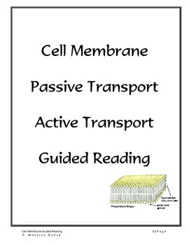 Cell Membrane Guided Reading Activity by Naturally Curious