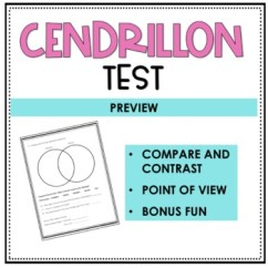 Cendrillon Venn Diagram 4 Way Test A Story Of Cinderella By Rockin Resources Tpt