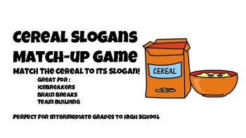 cereal slogans game by
