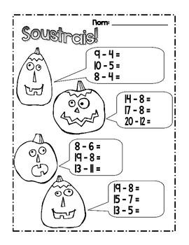 {C'est l'Halloween!} Fun MATH activities for grade 2-3