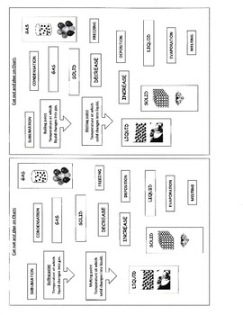 Changes of States of Matter Graphic Organizer by