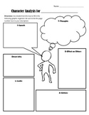 Characters Actions Graphic Organizer Teaching Resources