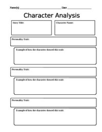 Character Analysis Worksheet by Mightier Than the Sword | TpT