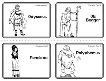 Character Card Sort Memory Review Game for The Odyssey by