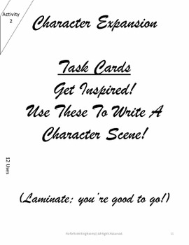Characterization! Handouts & Activities with CCSs Grades 6