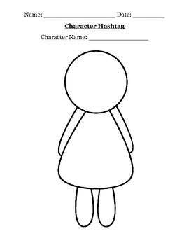 Character Hashtag (Character Traits Activity) by Ms A