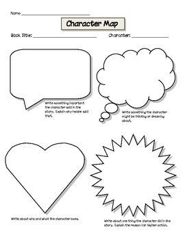 Character Map: Graphic Organizer for Common Core by