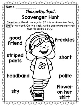 Character Traits Unit {Anchor Charts, Printables & Graphic