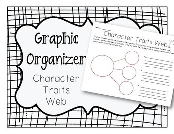 Character Traits Web Graphic Organizer by The Resourceful