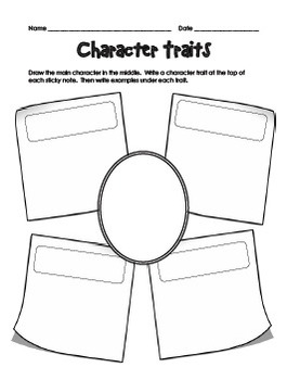 Character Worksheets By Teachplanlove