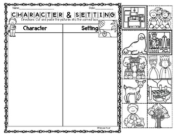 Character Setting Sort and Graphic Organizers (Bundle) by