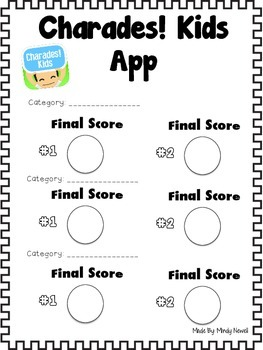 Charades! Kids and Charades Card Creator App